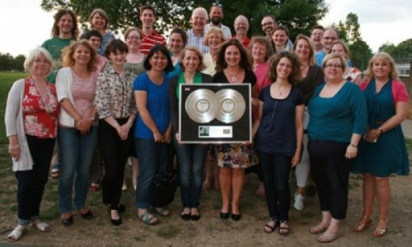 Some of CEC with Noel Gallagher's Platinum disc