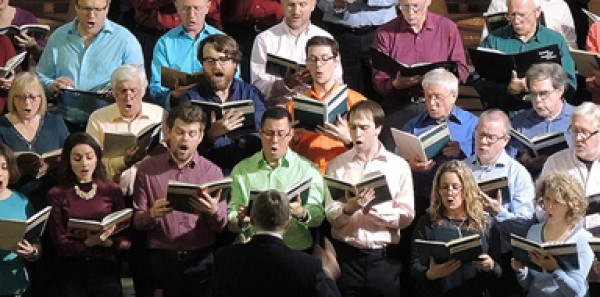 the choir in concert