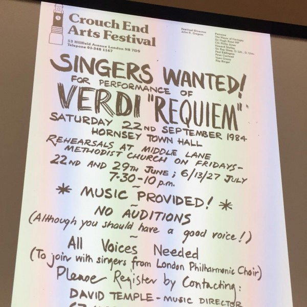 the original Singers Wanted poster